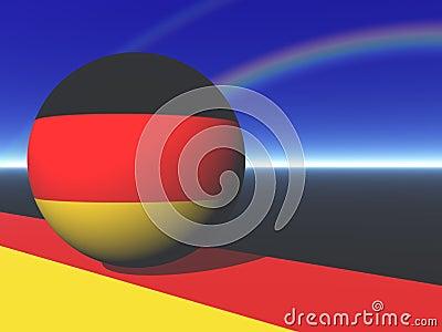 German Flag Globe