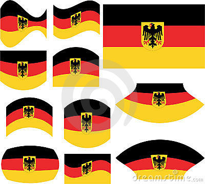 German flag set
