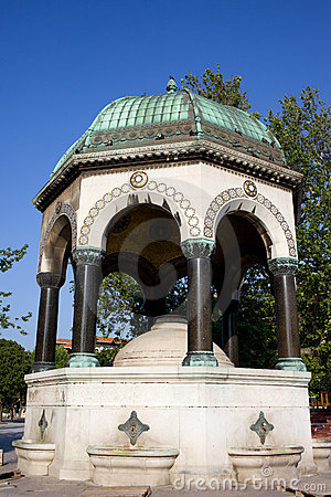 The German Fountain In Istanbul Stock Photography - Image: 21099772