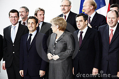 German French Minister Council Editorial Stock Photo