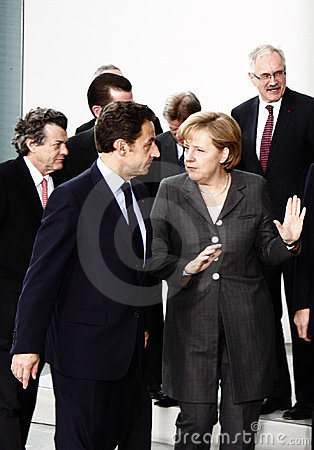 German French Minister Council Editorial Photography