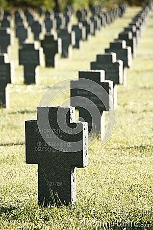 German Gravestones in a Row