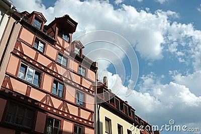 German half-timbered houses in Nuremberg
