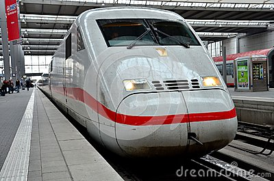 German intercity Bullet train at Munich train station, Germany Editorial Photography