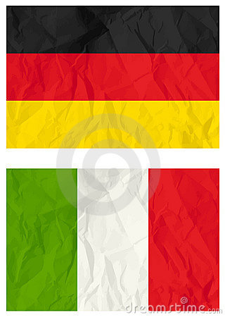 German and Italy flags, vector