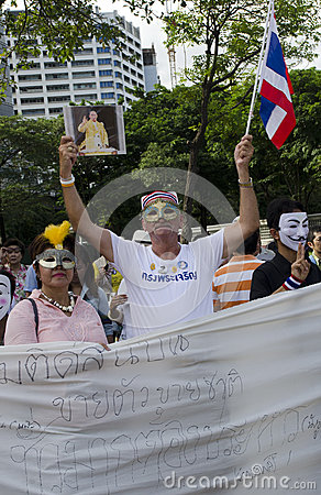German joins Thai protest Editorial Image