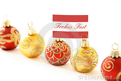German merry Christmas balls