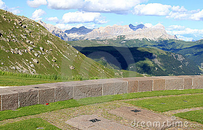 German Military Cemetery Pordoi, Dolomites Italy