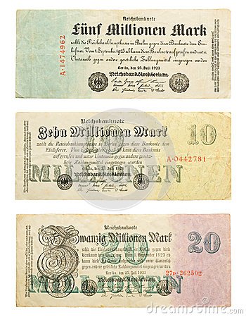 Free German Money From Hyperinflation Royalty Free Stock Photo - 24981755