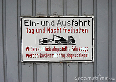 German No Parking Sign Royalty Free Stock Photos Image