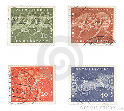 German old stamps - olympic games
