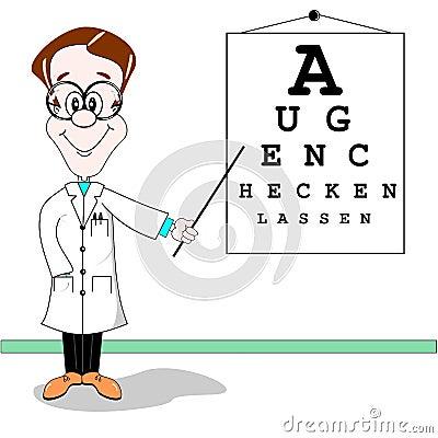 German Optician Cartoon Royalty Free Stock Photo Image