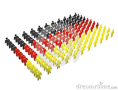 German People - Germany flag