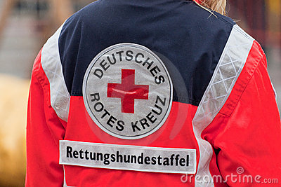 German Red Cross Editorial Stock Photo