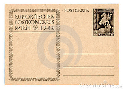 German reich postcard