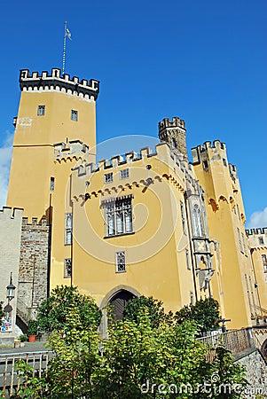 Free German Romantic Yellow Castle Stolzenfels, Coblenz Royalty Free Stock Images - 18525949
