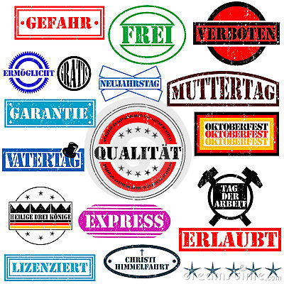 German rubber stamps Editorial Stock Photo