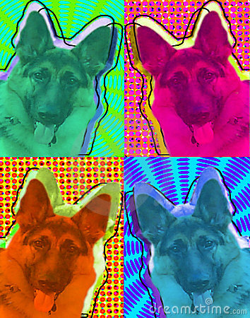 German Shepard Pop Art