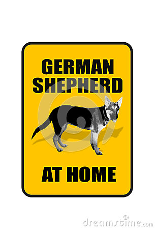 German Shepard Sign.