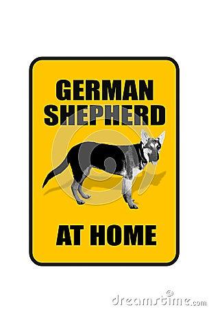 German Shepard Sign.