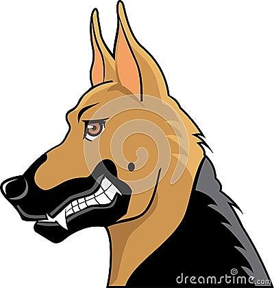 German shepherd cartoon profile