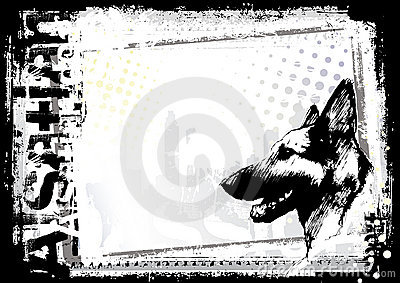 German shepherd dog background