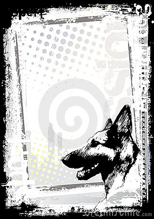 German shepherd dog poster background