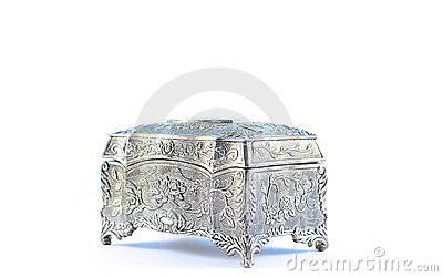 German silver jewel box