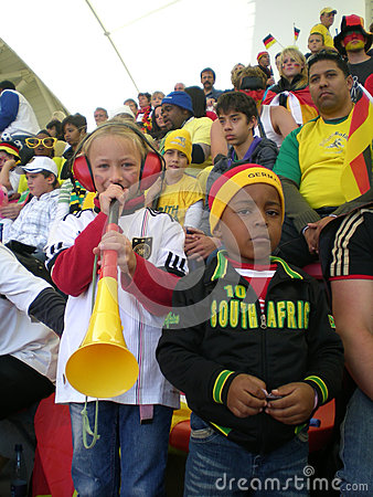 German soccer world cup fans Editorial Stock Image