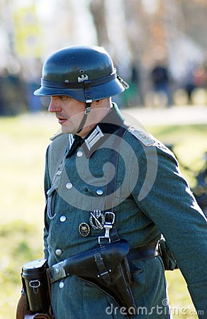 German soldier-reenactor Editorial Image