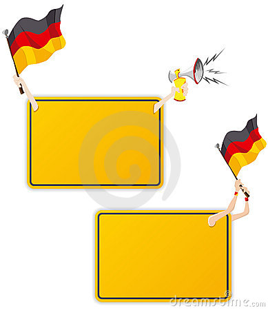 German Sport Message Frame with Flag.