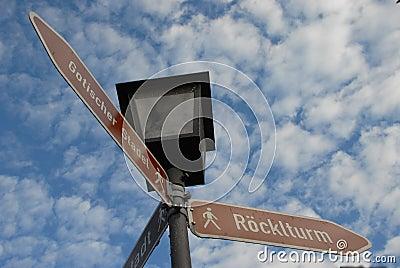 German street signs