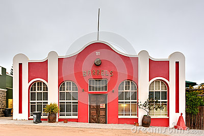 German Style Colonial Building - Luderitz, Namibia Stock Photo