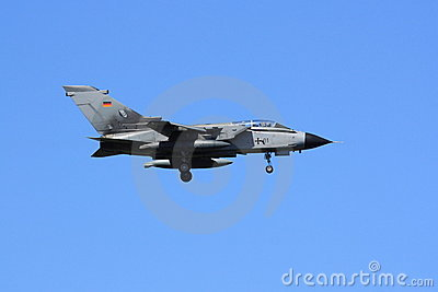 German Tornado on approach Editorial Stock Photo