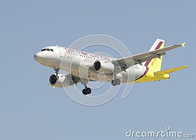 Germanwings Airbus A319 Editorial Stock Photo