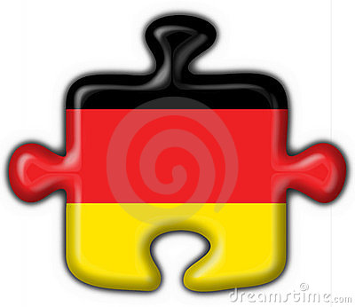 Germany button flag puzzle shape