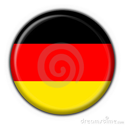 Germany button flag round shape