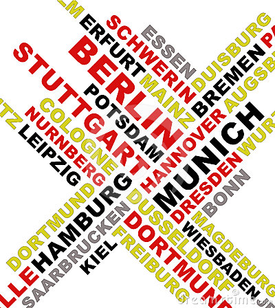 Germany city names collage