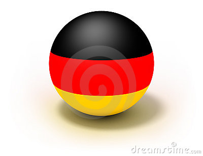 Germany Flag On Ball
