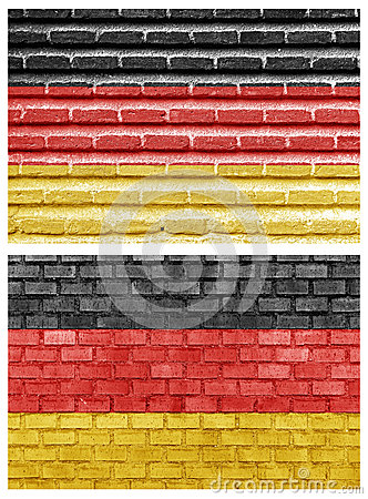 Germany flag on different brick walls