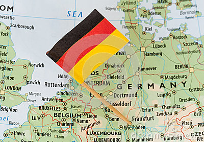 Germany map flag Stock Photo