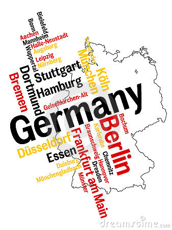 Free Germany Map And Cities Royalty Free Stock Photos - 15975408