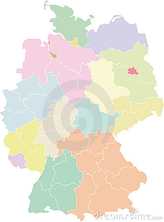 Germany map - federal states and regions