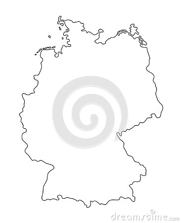 Germany outline map vector illustration Vector Illustration
