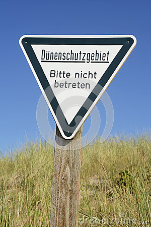Free Germany, Schleswig-Holstein, Heligoland, Sign, Dune Protected Area, Keep Off Royalty Free Stock Images - 50481829