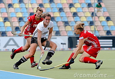 Germany V Belgium.Hockey European Cup Germany 2011 Editorial Stock Photo