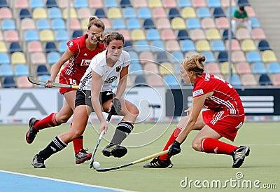 Germany V Belgium.Hockey European Cup Germany 2011 Editorial Stock Photo