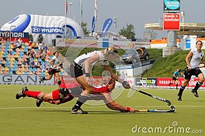 Germany V Belgium.Hockey European Cup Germany 2011 Editorial Photography