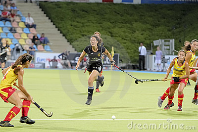 Germany V Spain.Hockey European Cup Germany 2011 Editorial Image