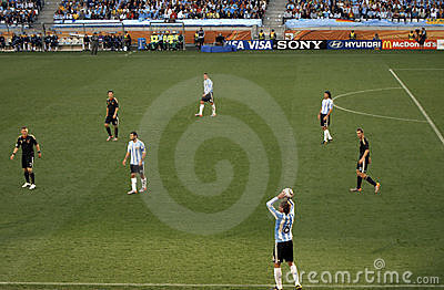 Germany vs Argentina Editorial Stock Image